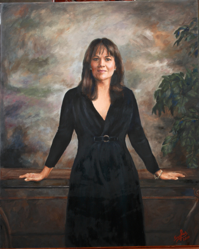 custom oil painting of woman
