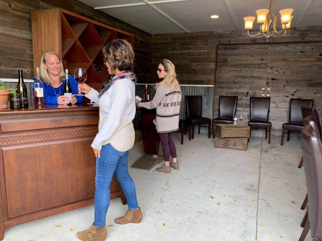 Vineyard wine bar
