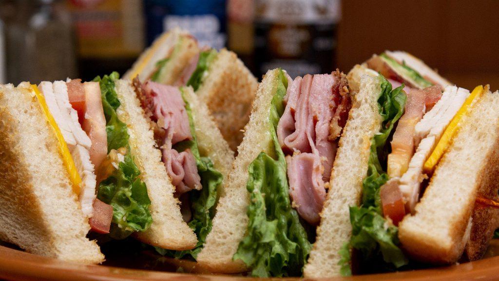Club sandwich at golf course
