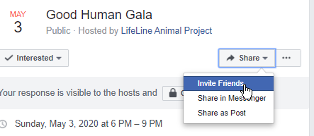 invite friends to facebook event