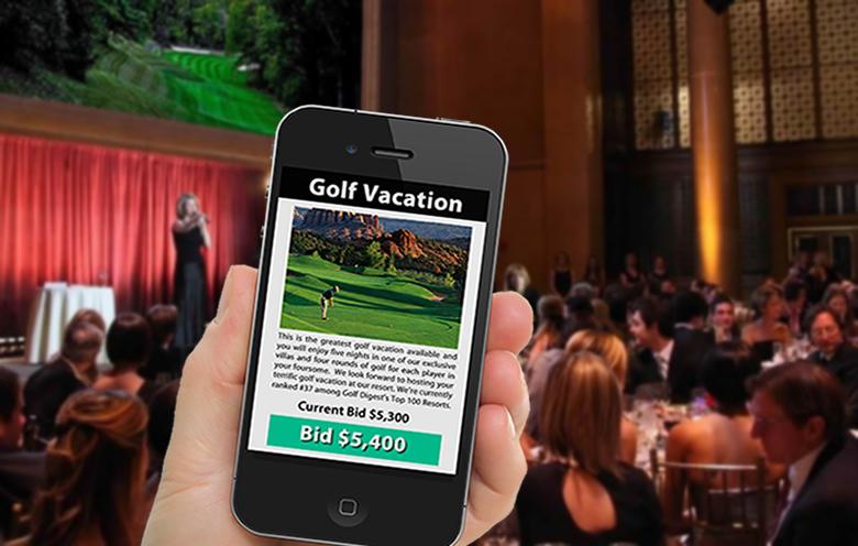 Mobile bidding at gala