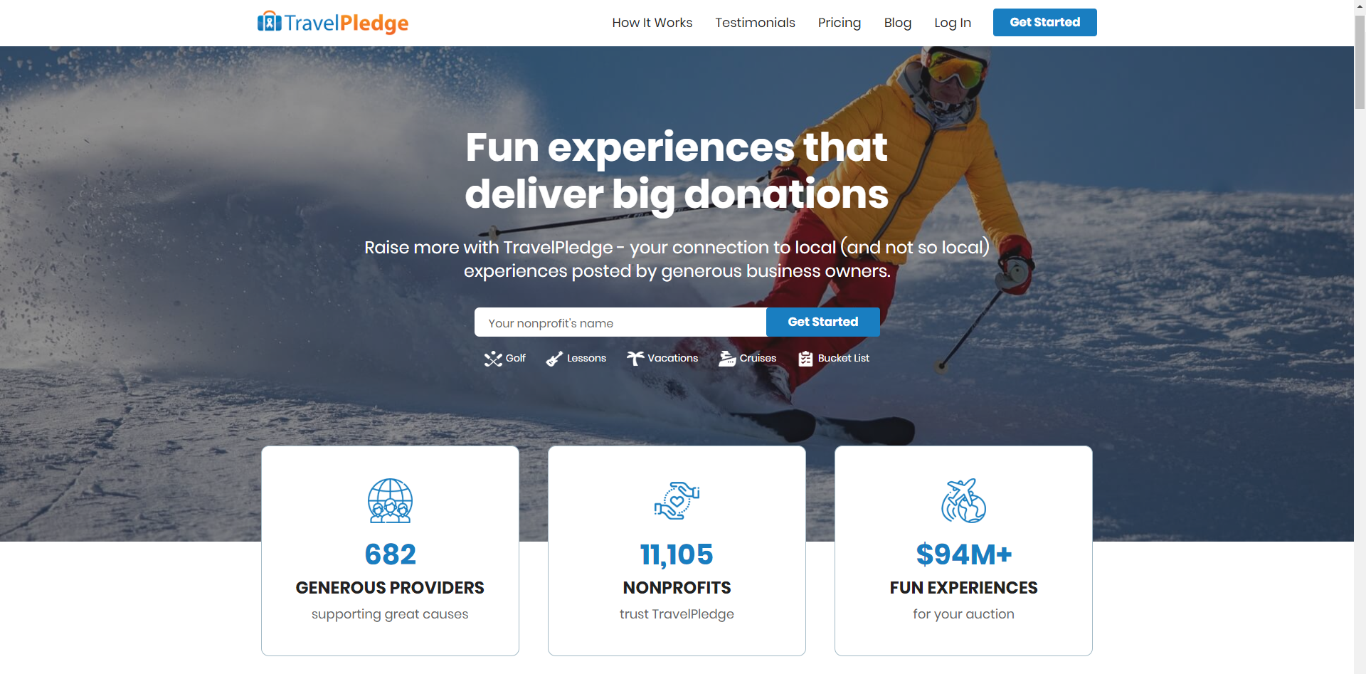 New TravelPledge homepage