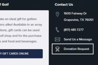 auction donation request form